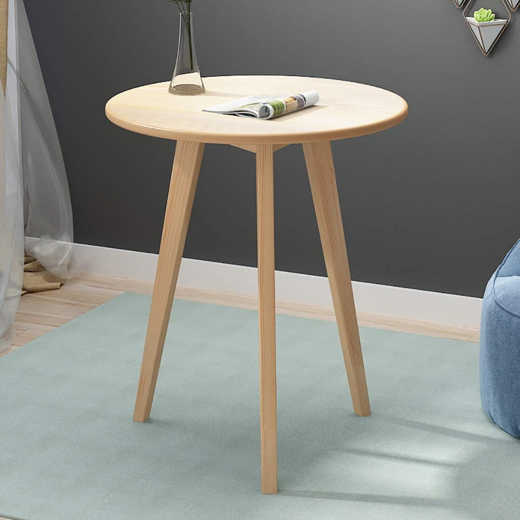 Garde Small Round Table, Simple Mini Bedroom Modern Household Small Coffee Table, Solid Wood Creative Casual Negotiation Small Table (Color : B, Size : 48.570CM) by Garde