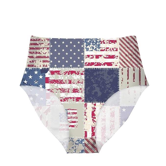 bb619d610002 Horeset Sexy Women Hipster Panty Underwear Briefs High Waist Breathable  Flag 3D Print Bikini Seamless 1PCS