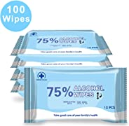 Disinfectant Wipes, 75% Alcohol Wet Wipes Cleaning Wet Wipes (1 Pack/10 Wipes,7.08