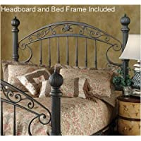 Hillsdale Furniture 1335HKR Chesapeake Headboard with Rails, King, Rustic Old Brown
