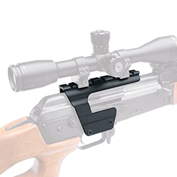 B-Square AK-47 / MAK-90 Receiver Mounted Scope Mount, Matte Black