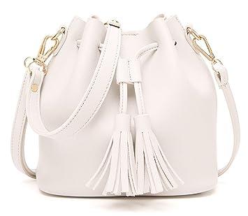 93fd21332 U-shot Ladies Drawstring Retro Mini Bucket Bag Casual Shoulder Bag:  Amazon.co.uk: Luggage