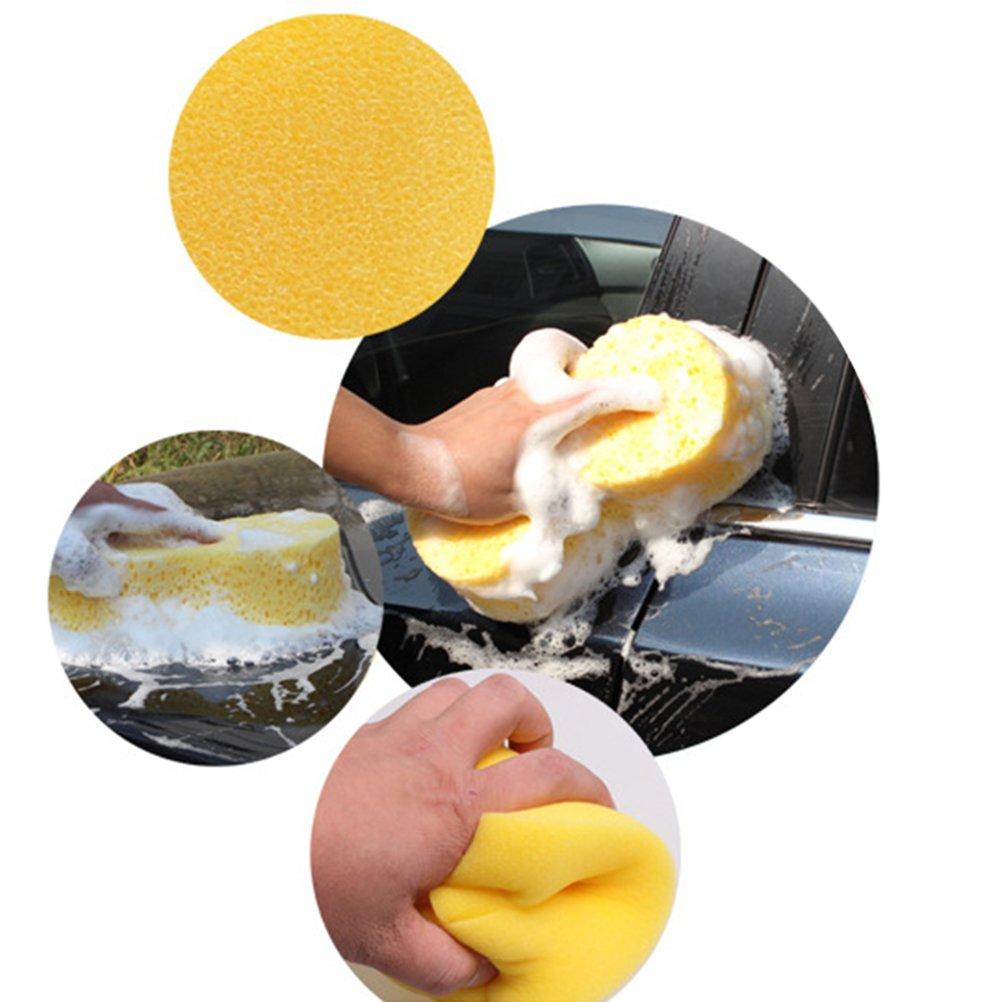 VORCOOL 6pcs Cars Waxing Polish Foam Sponge Applicator Pads for Cars Vehicle Glass Yellow