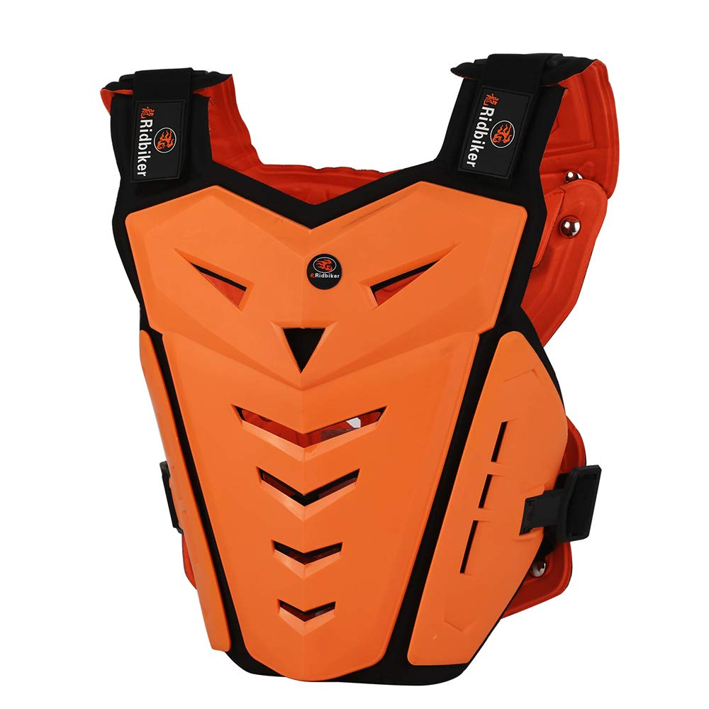 Ridbiker Motorcycle Armor Vest Motorcycle Riding Chest Armor Back Protector Armor Motocross Off-Road Racing Vest (orange) by RIDBIKER