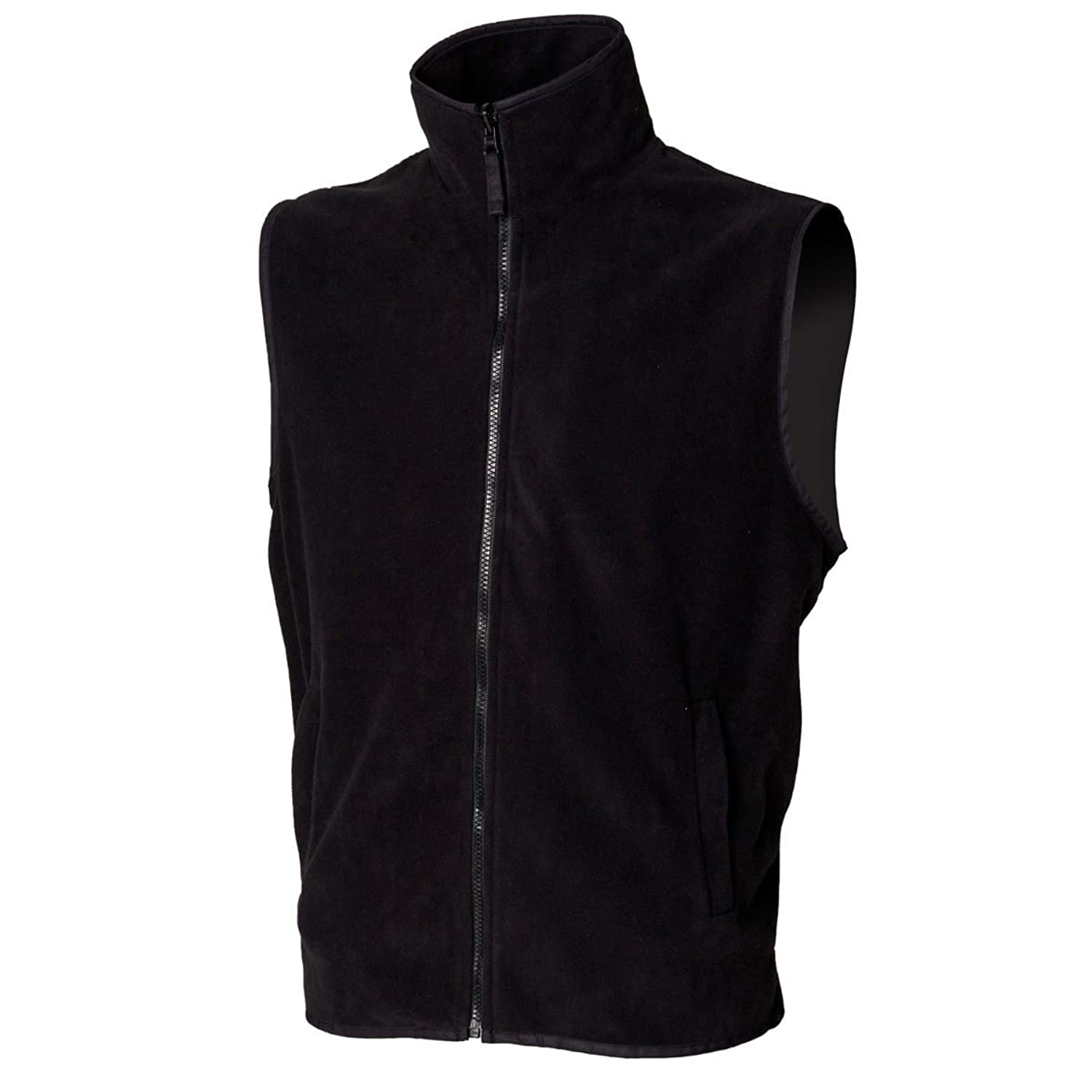 Henbury H855 Mens Sleeveless Microfleece Jacket Black S