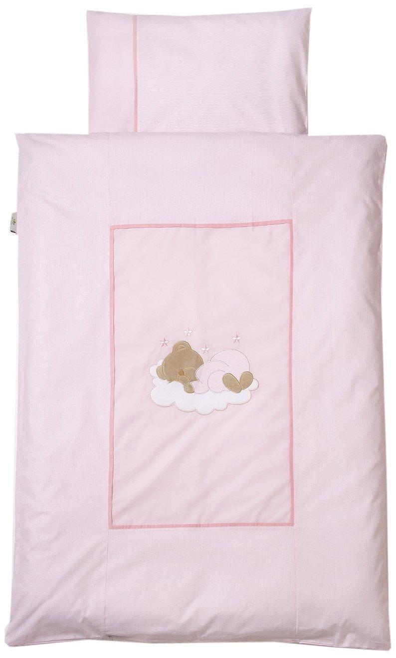 Easybaby 415-82 Bettwäsche 80 x 80 cm, Sleeping Bear Rose