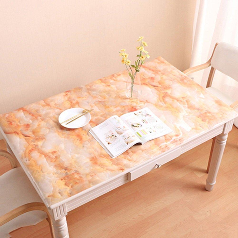 JIANFEI Mantel Rectangular Impermeable Anti-Aceite Patrón de mármol Suave Vidrio Suave, PVC, 3 Colores, 10 tamaños Opcionales (El tamaño Puede ser Personalizado) (Color : B, Tamaño : 90  140cm)