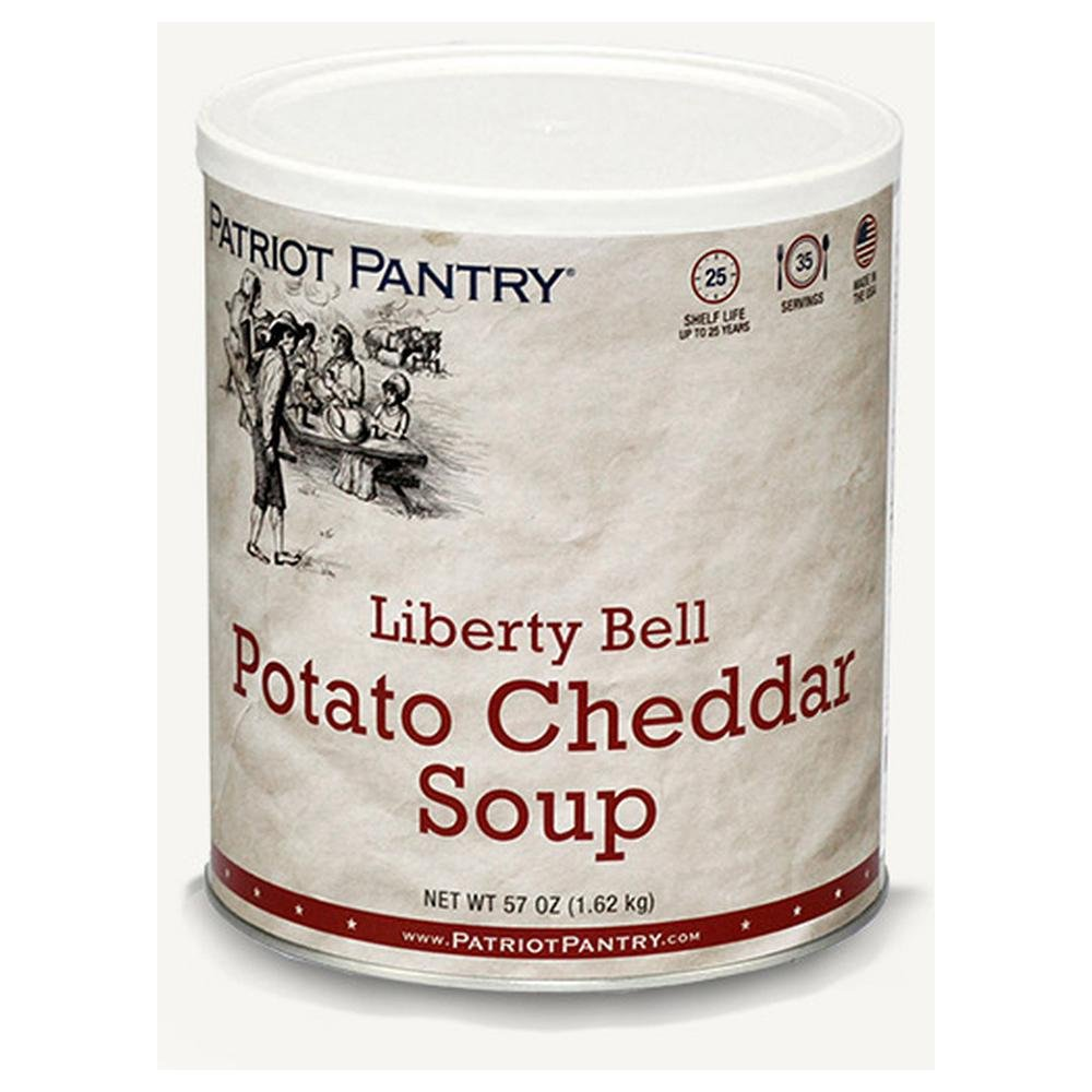 Patriot Pantry Liberty Bell Potato Cheddar Soup (35 servings) #10 Can Bulk Emergency Storage Food Supply, Up to 25-Year Shelf Life