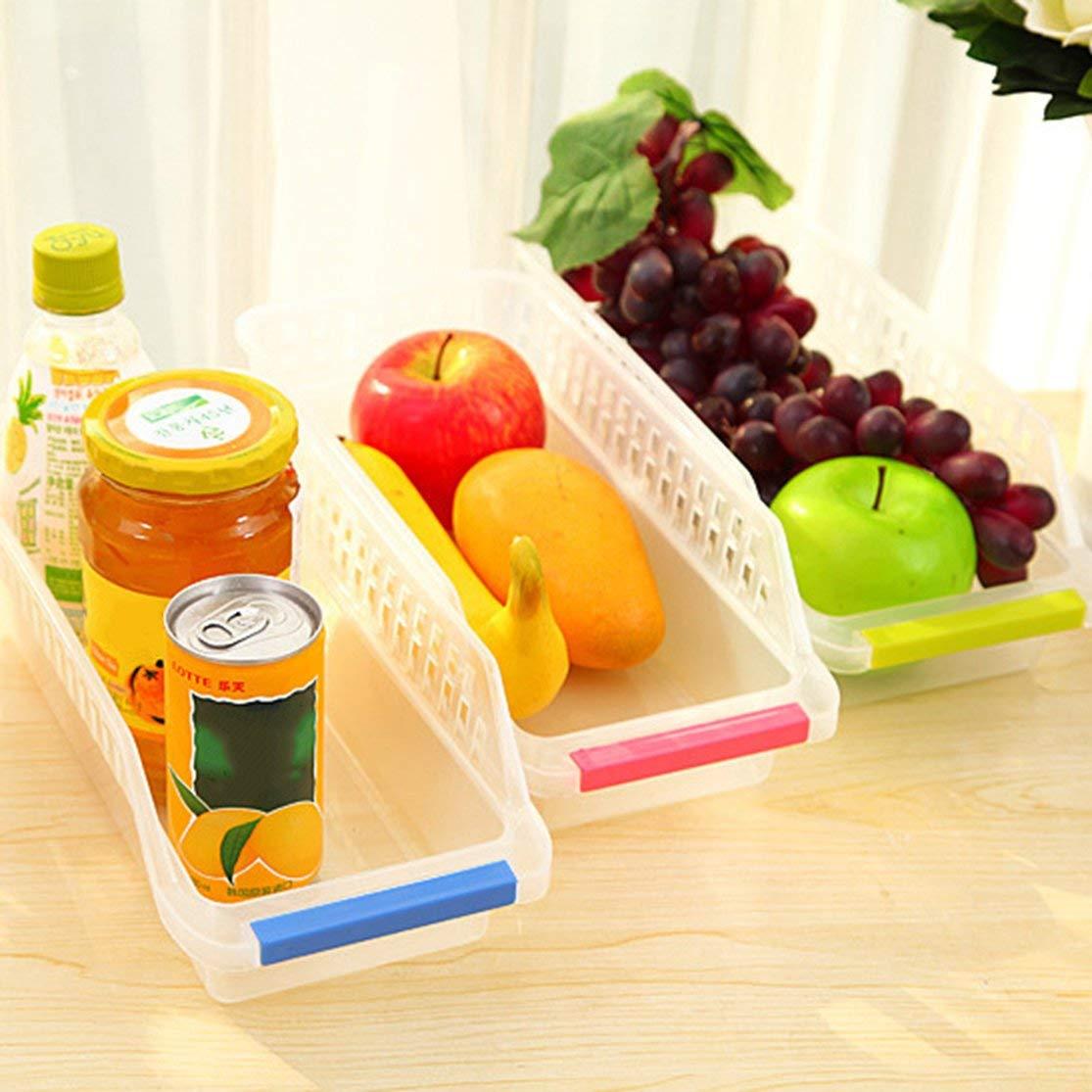 LouiseEvel215 Congelador Refrigerador Organizador Bandejas Bandejas Despensa Gabinete Caja de Almacenamiento Nevera Frutas Verduras Contenedores Cestas de Almacenamiento