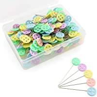 MEABEN 200 Pieces Magic Fine Quilt Quilting Pins Set Butterfly Head Patchwork Pins Sewing Notions Straight Push Pins Bulk DIY Sewing Crafting Accessories Multicolor