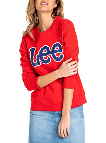 Lee Logo SWS Felpa Donna: Amazon.it: Abbigliamento