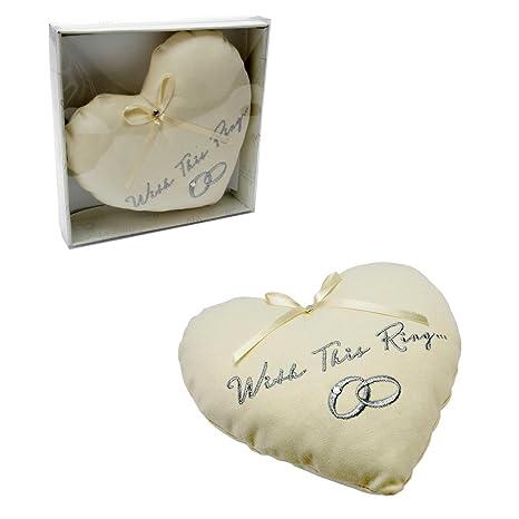 Amazon.com: Bonito diseño de corazón AMORE – Boda Anillo de ...