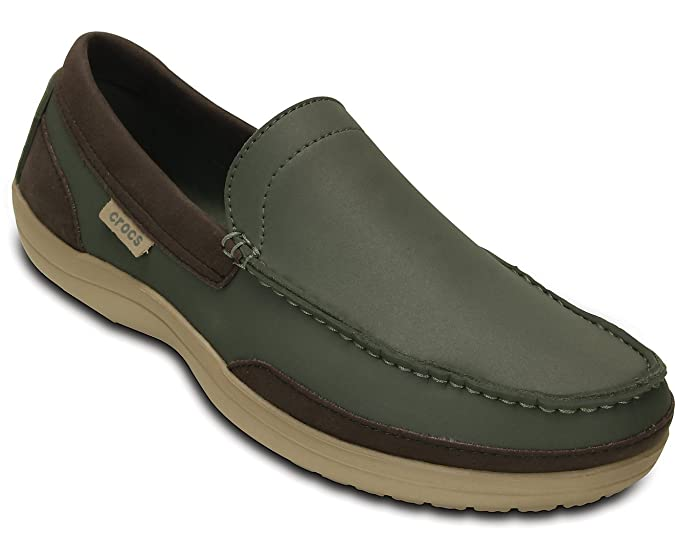 Crocs Wrap Colorlite Loafer Herren Clogs dusty olive/tumbleweed 44-45EU