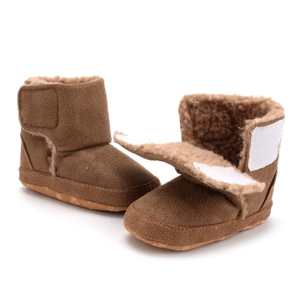 Butterflykisses Baby Premium Anti-Slip Mid Calf Warm Winter Infant Prewalker Toddler Snow Boots