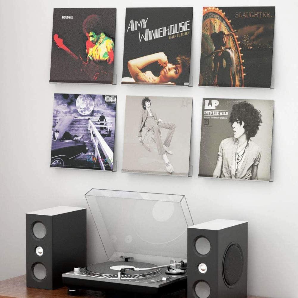 acr/ílico AIFUSI transparente Juego de 6 soportes para discos de vinilo