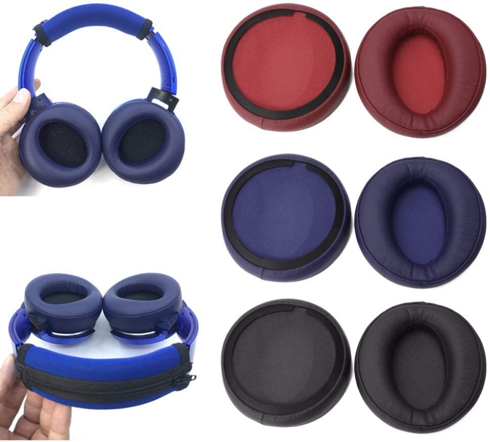 Black MDR-XB950BT Replacement Ear Pads Cushion Cups Ear Cover Earpads Repair Parts Compatible with Sony MDR-XB950BT XB950BT//B XB950N1 XB950B1 XB950AP XB950//H Headphones