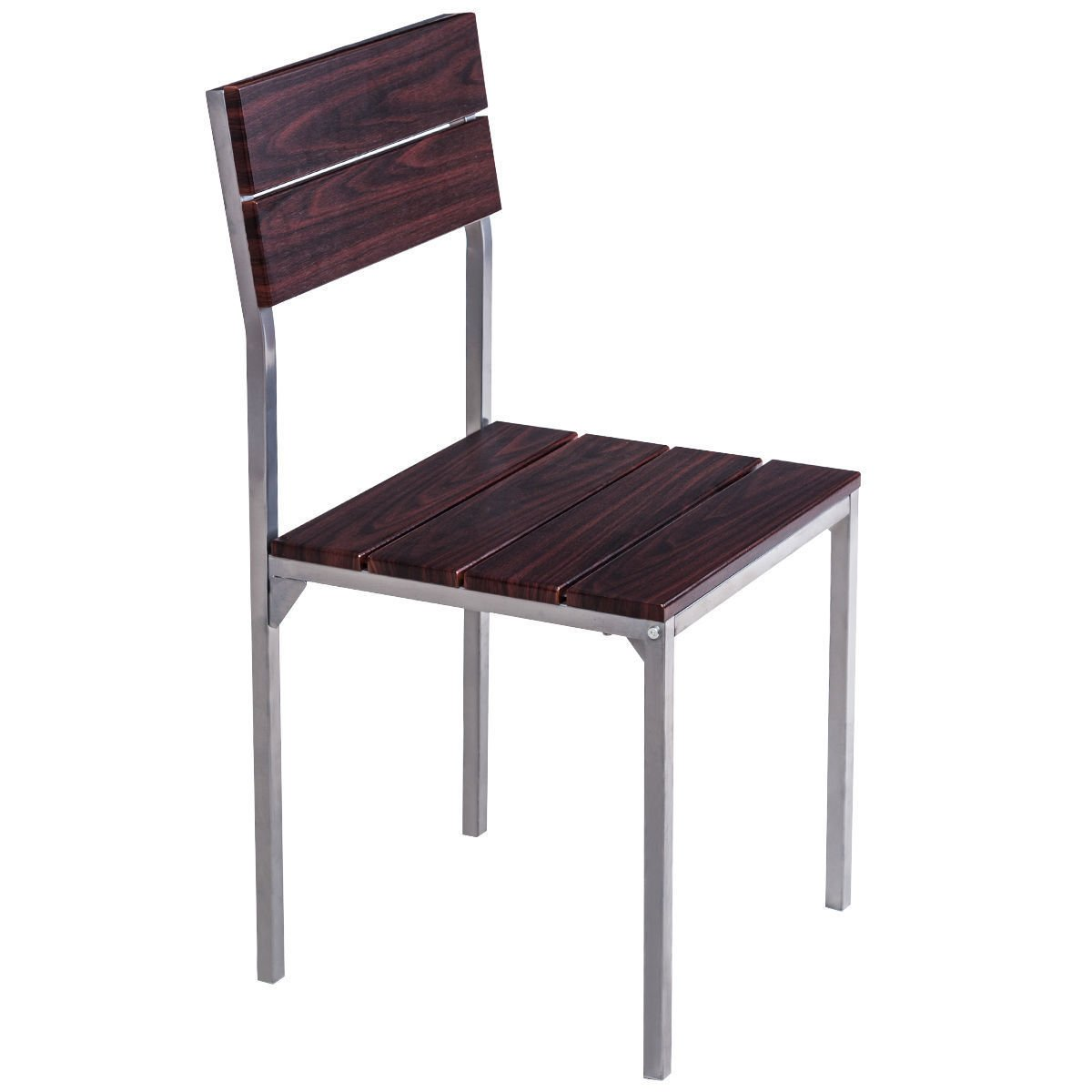 Amazon.com   5 Piece Dining Table Set 4 Chairs Wood Metal Breakfast Kitchen  Furniture New Ergonomic Back And Seat For More Sitting Enjoyment   Table U0026  Chair ...
