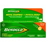 Berocca Effervescent Tablets, Orange, 10 Count (Pack 2)