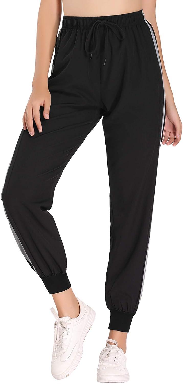 Hawiton Pantalon Chandal Mujer Largos Pantalones de Deporte Secado R/ápido Pantalones Deportivos Yoga Fitness Jogger