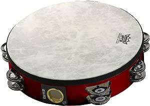 "Remo Fiberskyn Tambourine - Quadura Deep Red, 8"""