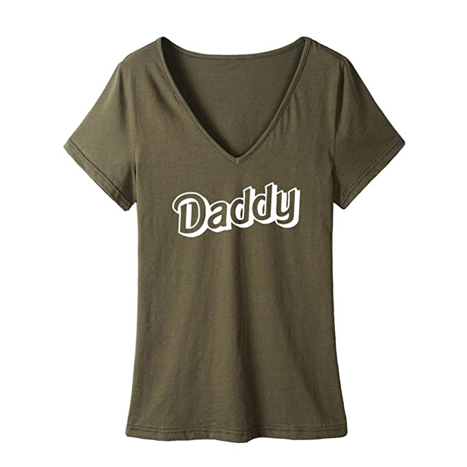 caaacb28c Image Unavailable. Image not available for. Color: Daddy Hot Selling Women  Design Letters T Shirt Plus Size ...