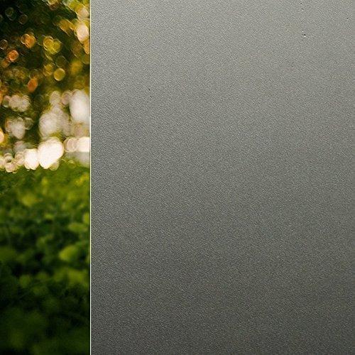 Rabbitgoo 窓 めかくしシート ガラス 窓用 フィルム 目隠し 遮光 断熱 結露防止 リメイク 日よけ 風呂 浴室 食器棚 ベランダ 窓ガラス 目隠しシート 断熱シート 結露防止シート 窓用フィルム シート シール ステンドグラス すりガラス 貼ってはがせる 窓に貼るカーテン 外から見えない おしゃれ (半透明の黒 90 x 200cm) B0192SKQXQ