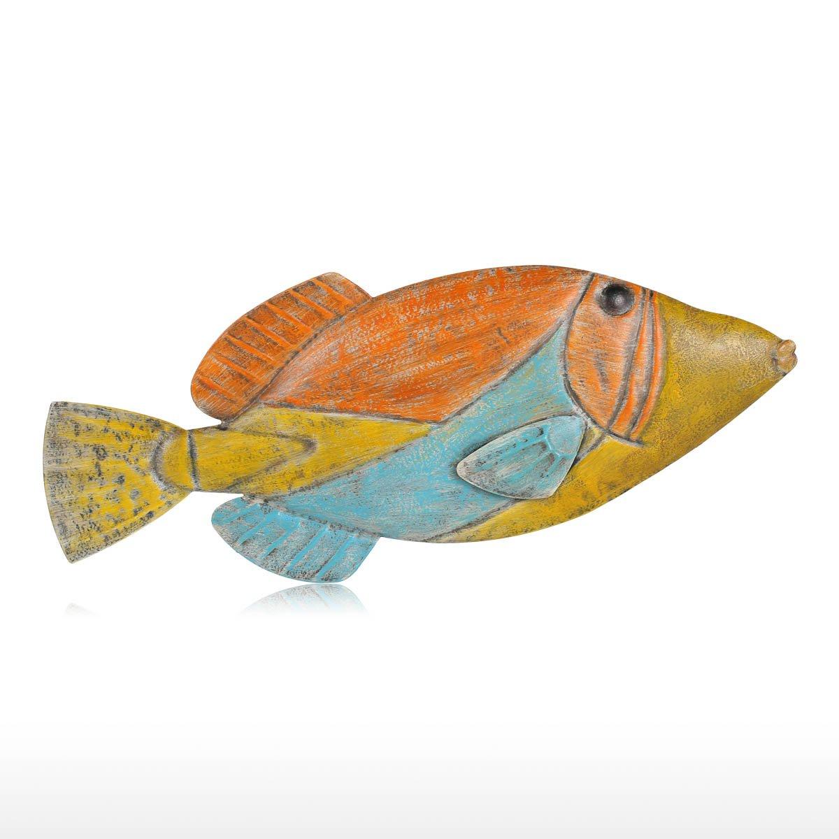Tooarts Muro di Pesce Appendere 1 Parete di Ferro Decorazione Creativo Ornamento Artigianale Muro di Parete Muro Appeso Vita Marina