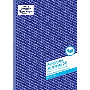 Avery Zweckform 741 - Cuaderno para gastos de viaje (A4, para registro mensual, 50 hojas, en alemán), color blanco