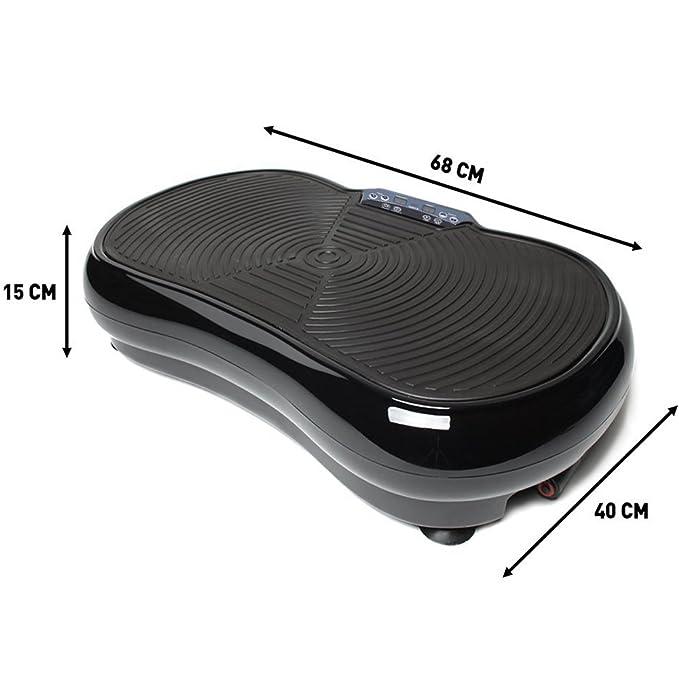 Befied Plataforma Vibratoria portátil Máquina de vibromasaje con mando a distancia Incluye 2 bandas de Caucho y Mando a distancia Peso máximo 150 kg