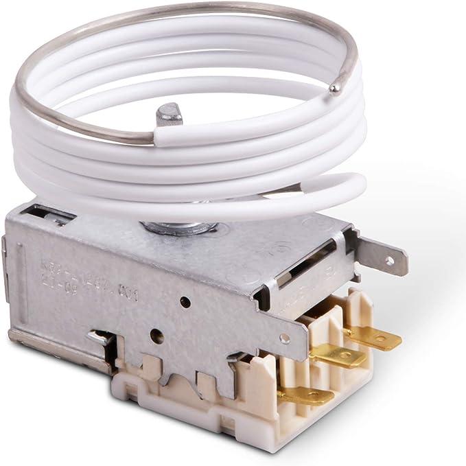 VIOKS - Termostato para frigorífico, regulador de temperatura análogo a parte alternativa Ranco K59-L1287, parte alternativa apta, entre otras, como análoga a Liebherr 6151086: Amazon.es: Grandes electrodomésticos