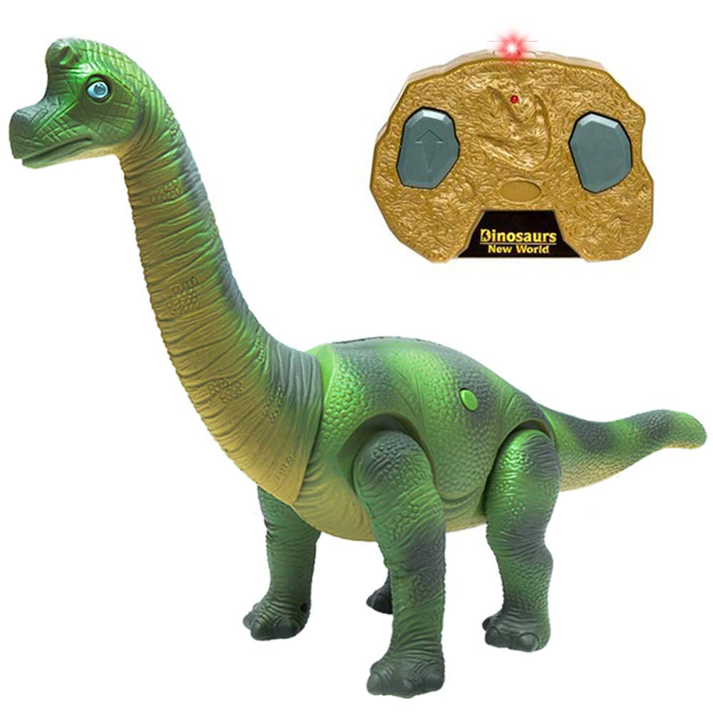 Liberty Imports Dino Planet Remote Control RC Walking Dinosaur Toy with Shaking Head, Light Up Eyes and Sounds (Brachiosaurus) by Liberty Imports (Image #1)