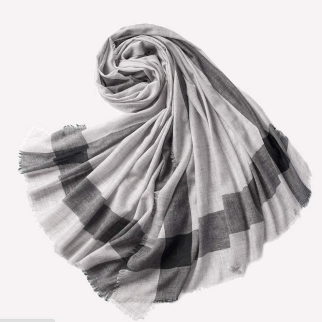 B Spring, Summer and Autumn New Korean Version of Water Soluble Wool Plaid Scarf Visor Warm Air Conditioning Towel Fashion Shawl (color   B)