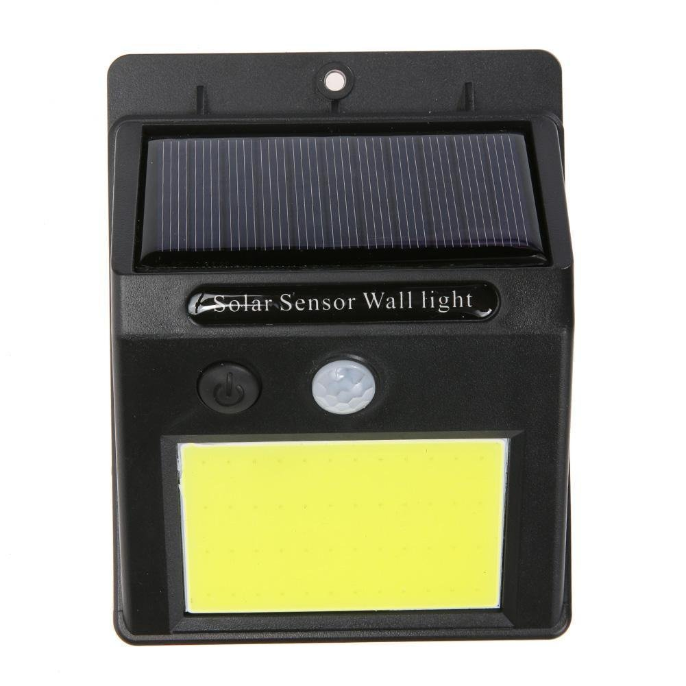 FidgetFidget Outdoor Garden Lamp 48-LED Waterproof Solar Power PIR Motion Sensor Wall Light
