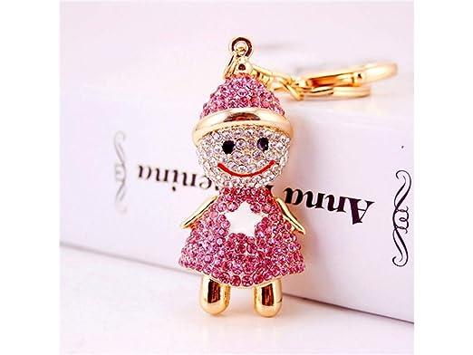 WEILIVE Llavero de Coche Hermosa Linda Moda Navidad muñeco ...