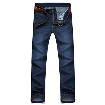 WSPLYSPJY Mens Stylish Jeans Distressed Destroyed Ripped Hole Motorcycle Slim Fitted Zip-up Jeans Pants