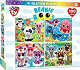 MasterPieces TY Beanie Boo Glitter 4-Pack Mutlipack 100 Piece Puzzles