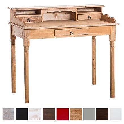 CLP Scrittoio PLATH in mogano, scrivania in stile rustico, antico ...