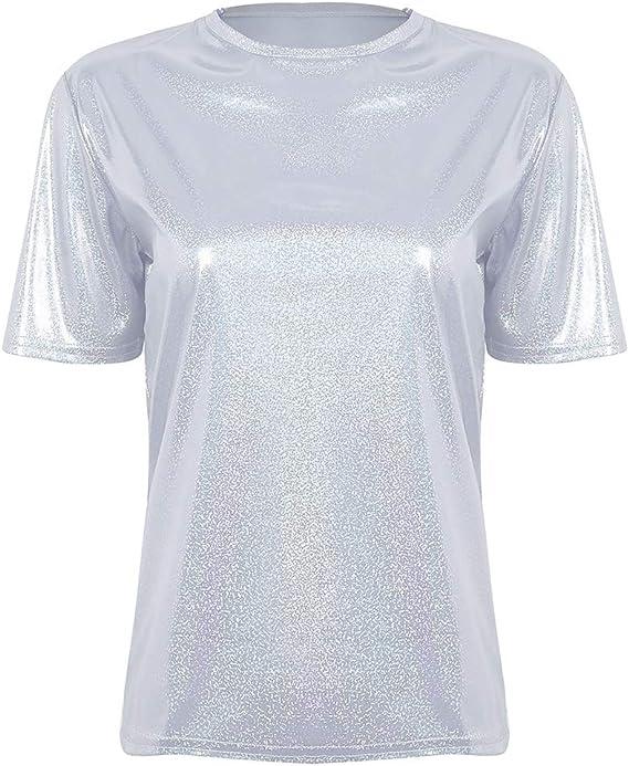t-shirt femme argenté