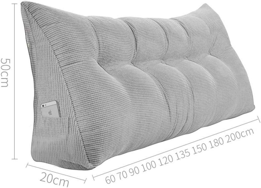 VZXFYG Kissen R/ückenkissen H/üftgurt Kopfteil Kissen Dreieck Bett Kissen Soft Case Sofa Gro/ße Zur/ück Kissen Bett Zur/ück Size 60cm no Button