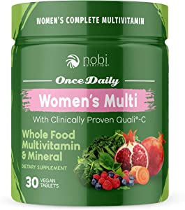One Daily Multivitamin for Women - with Whole Food Vitamins - Immune Support with Clinically Proven Vitamin C, Vitamin D, Zinc - Premium Vegan Womens Vitamins - Natural Minerals & Extracts (30 ct)