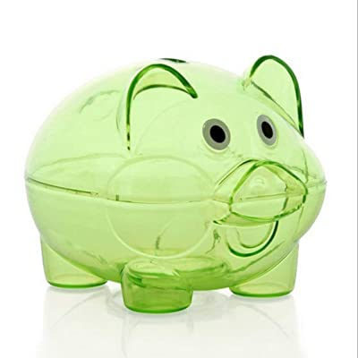 Kaemma Cartoon Pig Bank Transparent Piggy Bank Money Coin Collector: Juguetes y juegos