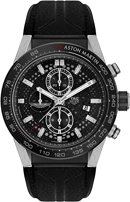 Amazon Com Tag Heuer Mens Special Edition Aston Martin Carrera Caliber Heuer 01 45mm Tag Heuer Watches