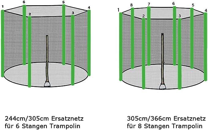 Noir Bleu Vert Rose ULTRAPOWER SPORTS Filet de s/écurit/é Rechange /& Coussin de Protection des Ressorts pour Trampoline 244cm 305cm 366cm 397cm 427cm