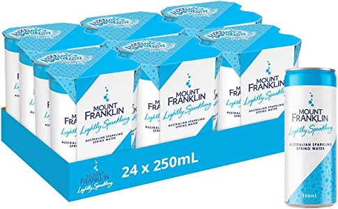 Mount Franklin Lightly Sparkling Natural Water 24 x 250mL