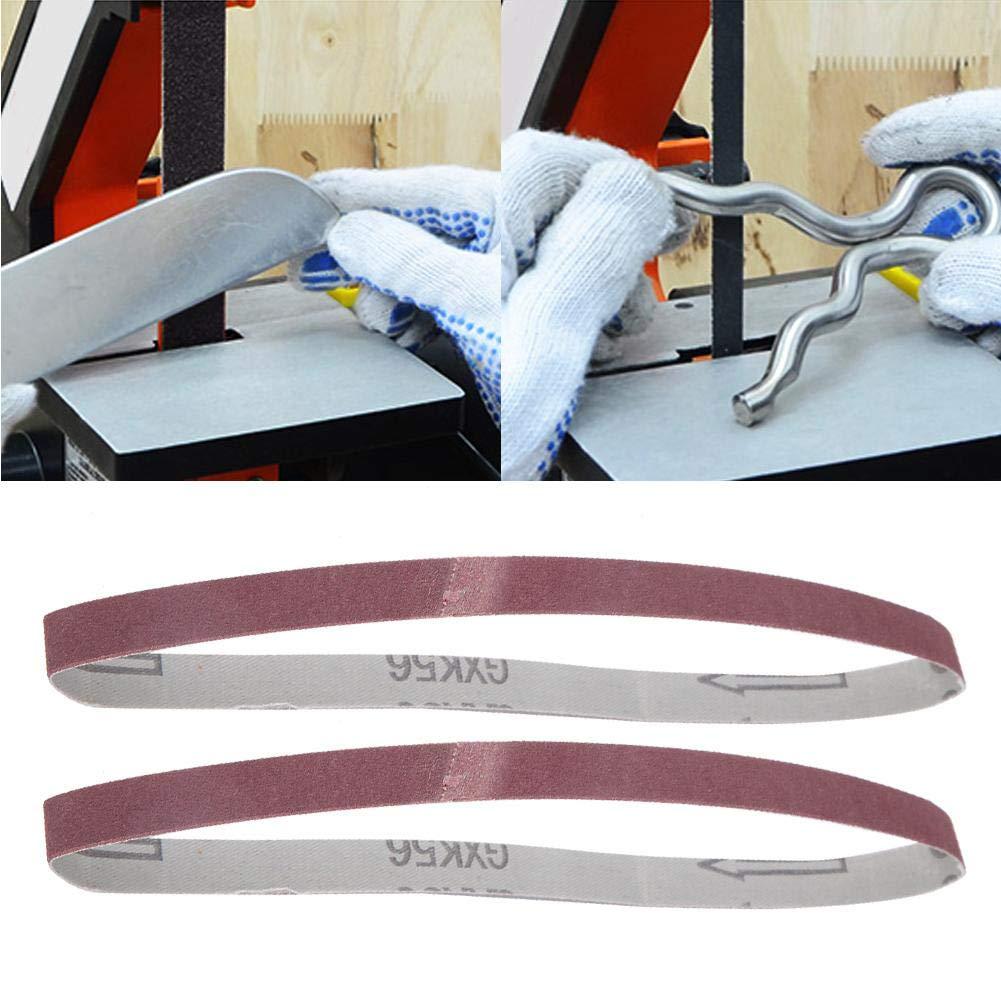 180 Grits 10PCS Abrasive Sanding Belt Sander Band Aluminum Oxide Sandpaper for Wood Furniture Grinding Polishing Woodworking 457 x 13mm GXK51-B