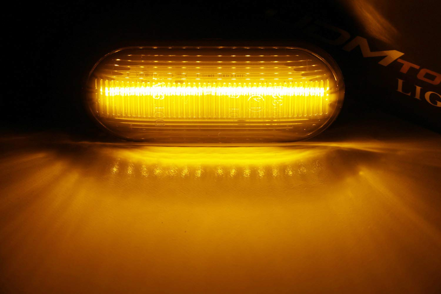 Powered by 15-SMD LED Replace OEM Sidemarker Lamps iJDMTOY Clear Lens Amber Full LED Front Side Marker Light Kit For Volkswagen MK4 Jetta GTI R32 Beetle etc