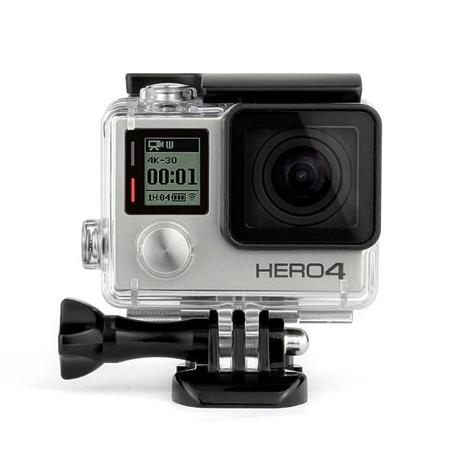 ShipeeKin - Carcasa Protectora de Repuesto para cámara GoPro Hero 3+ 4 (Nota: GoPro 3 no es Adecuado) Toalla de Limpieza incluida.