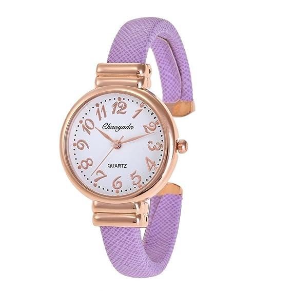 YAZILIND de cuarzo reloj de pulsera de gran dial reloj de aleación correa abierta para las