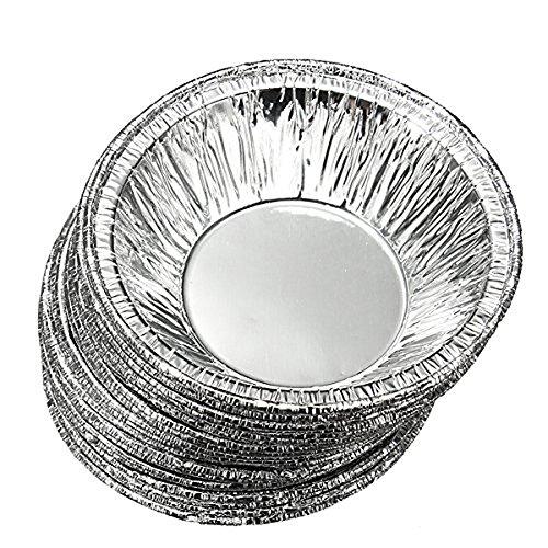 Sealike 250 Pcs Disposable Baking Circular Egg Tart Tins Mold Mould Makers Cake Cups Foil Tart Pie Pans with Stylus