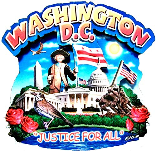 Washington D.C. Montage Wood Fridge Magnet (Best Souvenirs From Dc)